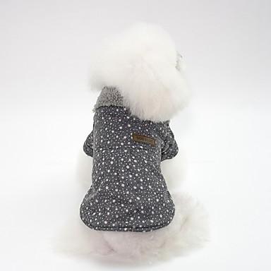 Perros Abrigos Ropa para Perro Simple Británico Gris Rosa Algodón Disfraz Para Bulldog Shiba Inu Doguillo Otoño Invierno Unisex Estilo Japonés y Coreano Calentadores