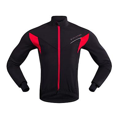 05656b61c9 Hombre Chaqueta de Ciclismo Bicicleta Chaqueta Deportes Invierno Negro /  Rojo Ciclismo de Montaña Ciclismo de