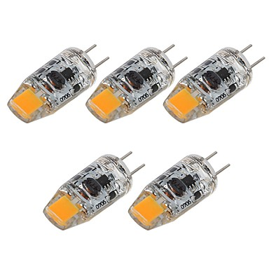 billige Elpærer-SENCART 5pcs 2 W LED-lamper med G-sokkel 180 lm G4 T 1 LED perler COB Dekorativ Varm hvit Hvit 12 V