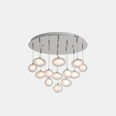 ZHISHU sputnjik Privjesak Svjetla Ambient Light Electroplated Metal Glass LED, New Design 110-120V / 220-240V Meleg fehér / Bijela