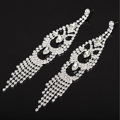 e60d742369d9 Women s AAA Cubic Zirconia Classic Drop Earrings Earrings Tassel Jewelry  Gold   Silver For Wedding Party 1 Pair