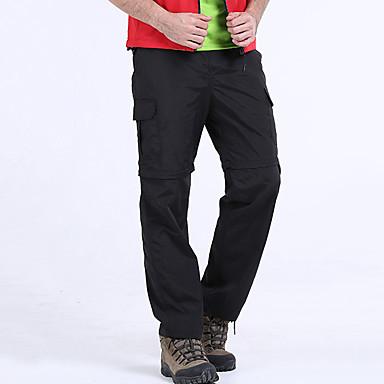 Men's Hiking Pants Convertible Pants / Zip Off Pants Outdoor Waterproof Breathable Quick Dry SPF35 Spring Summer Pants / Trousers Convertible Pants Bottoms Camping / Hiking Fishing Climbing Black