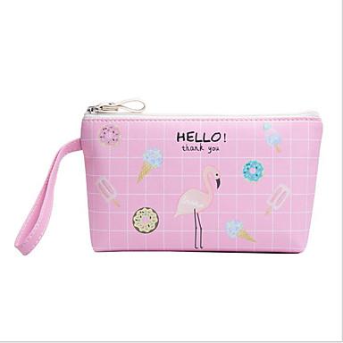 Delizioso Pu Borsa Per Cosmetica Cerniera Rosa #07007720 Sconto Online