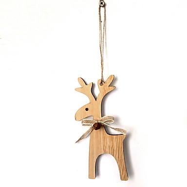 voordelige Feestbenodigdheden-Ornamenten Hout 1 Stuk Kerstmis