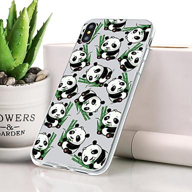Θήκη Za Apple iPhone XS Max Protiv prašine / Ultra tanko / Uzorak Stražnja maska Životinja / Panda Mekano TPU