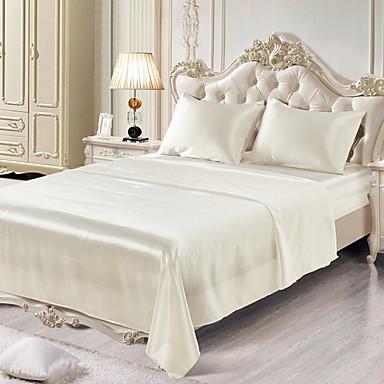 bomuld quiltet solid farvet 1pc fladt ark / 1pc monteret plade / 1pc pudebetræk sengetæppe