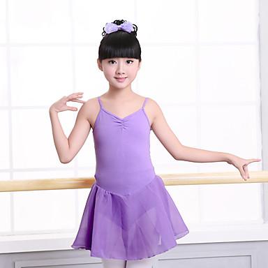 Balet Haljine Djevojčice Trening / Seksi blagdanski kostimi Elastan / Likra Nabori / Wave-like Bez rukávů Haljina