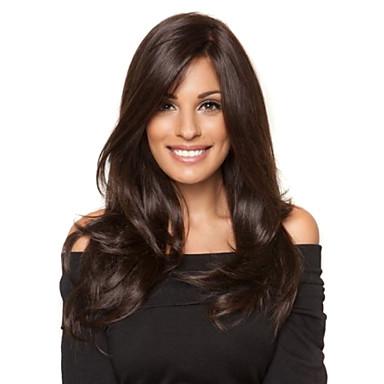 povoljno Perike i ekstenzije-Virgin kosa Lace Front Perika Slobodni dio Kardashian stil Brazilska kosa Ravan kroj Natural Perika 130% Gustoća kose s dječjom kosom Afro-američka perika neprerađenih Izbijeljeni čvorovi Žene Dug