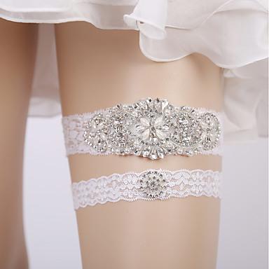 Encaje Boda Liga de la boda Con Bottom con encaje / Banda / Cristales / Rhinestones Ligas Boda