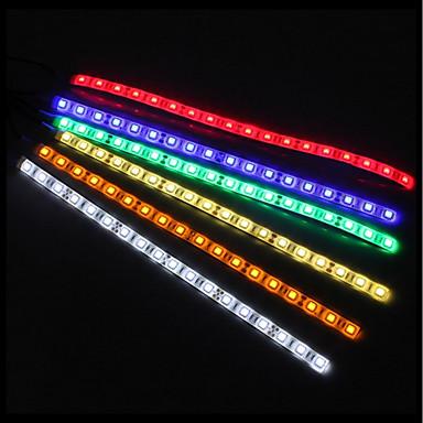 tanie Taśmy LED-zdm 50cm 5050 dc12v wodoodporny ip65 pc komputer led elastyczny pasek tło światło