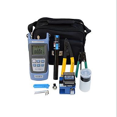 9 en caja de herramientas óptica FTTH fibra 1 con la cuchilla de fc-6 y la fibra óptica medidor de potencia óptica de defecto 5 kilometros