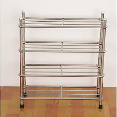 billige Skotilbehør-Skohyller og hengere Rustfritt stål 12 Par Unisex Sølv