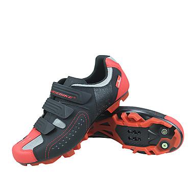 رخيصةأون أحذية ركوب الدراجة-SIDEBIKE للبالغين Mountain Bike Shoes متنفس مكافح الانزلاق توسيد أخضر / الدراجة دراجة أسود / أحمر رجالي أحذية الدراجة / تهوية / تهوية / هوك وحلقة