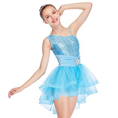 Balet Haljine Žene Seksi blagdanski kostimi Til / Likra Traka / vrpca / Drapirano padajuće / Falte Bez rukávů Visok Nakit za kosu / Haljina