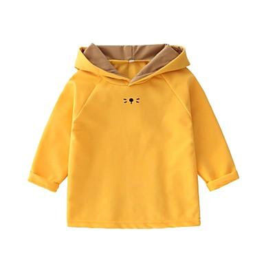 e1ca8e388f6 Μωρό Κοριτσίστικα Βασικό Μονόχρωμο Μακρυμάνικο Βαμβάκι Μπλούζα με Κουκούλα  & Φούτερ Πράσινο του τριφυλλιού / Νήπιο