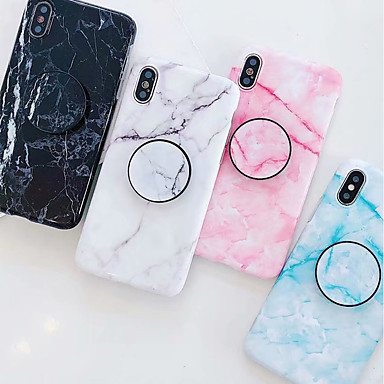 cheap Marble Case-Case For Apple iPhone XS / iPhone XR / iPhone XS Max with Stand / IMD / Pattern Back Cover Marble Soft TPU