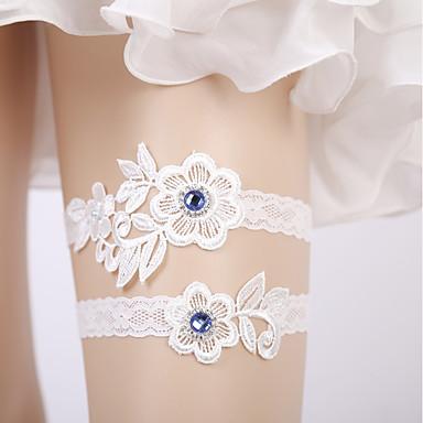 Čipka / Tejszövet Vjenčanje Vjenčanja S Čipka-obrubljen Bottom / Kristali / Rhinestones Podvezice Vjenčanje
