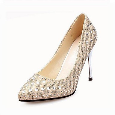 ce38a5b42f8 Women s Leatherette Spring   Summer Stiletto Heel Black   Silver   Gold    Party   Evening   EU39