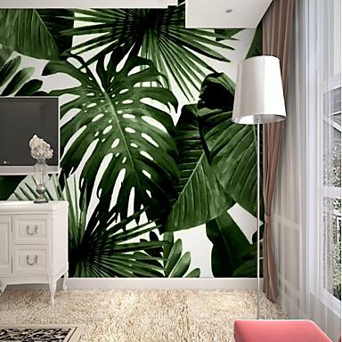 povoljno Dom i vrt-tapeta / Mural Platno Zidnih obloga - Ljepila potrebna Copaci / Frunze / Art Deco / 3D