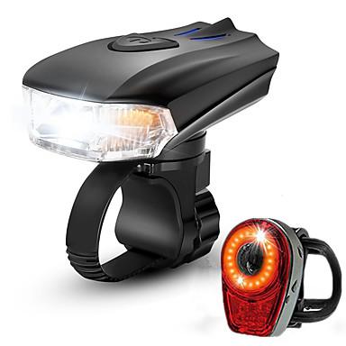 LED Svjetla za bicikle Set svjetala za bicikl s mogućnošću punjenja Stražnje svjetlo za bicikl sigurnosna svjetla Brdski biciklizam Bicikl Biciklizam Vodootporno Super Bright Prijenosno Quick Release