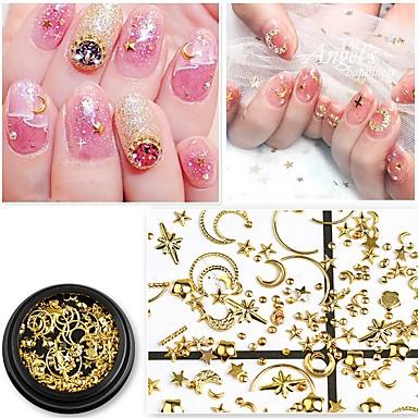 1 pcs 3D sučelje Metalic Nakit za nokte Šljokice Za Prst noktiju Noviteti nail art Manikura Pedikura Dnevno / Maškare / Dan zahvalnosti Korejski / Moda