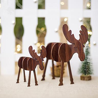 Odmor dekoracije Božićni ukrasi Božićni ukrasi Ukrasno Braon / Drvo 2pcs