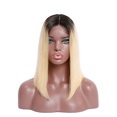 Virgin Human Hair Remy Human Hair Lace Front Wig Peruvian Hair
