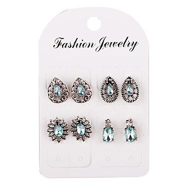 Žene Sitne naušnice Klasičan Jednostavan Klasik Naušnice Jewelry Pink Za Dnevno 4 para