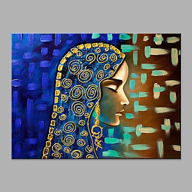 Hang oslikana uljanim bojama Ručno oslikana - Sažetak Ljudi Moderna Bez unutrašnje Frame / Valjani platno