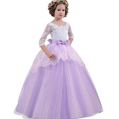 Princeza Vintage Haljine Kostim za party Djevojčice Kostim Crvena / Plava / Pink Vintage Cosplay Bez rukávů