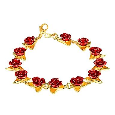 voordelige Dames Sieraden-Dames Armband camee Rozen Dames Modieus Koper Armband sieraden Goud Rose / Goud / Zilver Voor Lahja Dagelijks