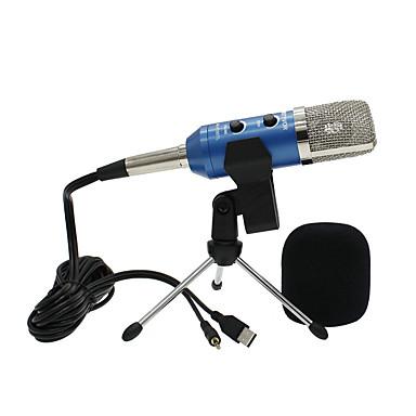abordables Microphones-USB Microphone A Fil Microphone à Condensateur Microphone à Main Pour Microphone d'Ordinateur