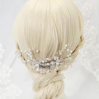 Legura Kose za kosu s Crystal / Rhinestone 1pc Vjenčanje / Special Occasion / Rođendan Glava