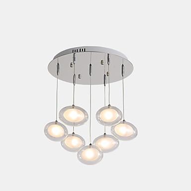 ZHISHU 7-Light sputnjik Lusteri Ambient Light Electroplated Metal Glass LED, New Design 110-120V / 220-240V Meleg fehér / Bijela