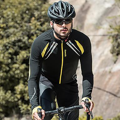 SANTIC Men s Cycling Jacket Bike Jacket   Jersey   Top Windproof ... 230b2f164