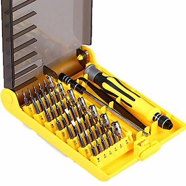 baratos Chaves de Fenda & Soquete-6089a 45 em 1 ferramenta de chave de fenda intercambiável profissional telefone / pc / ferramentas de reparo da câmera com tweezer eixo de extensão difícil