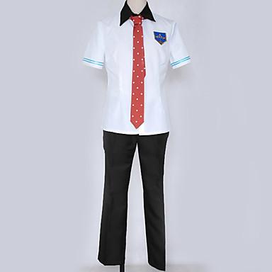 Inspirirana Besplatno! Haruka Nanase Anime Cosplay nošnje Japanski Cosplay Suits / School Uniforms Jednobojni / Grad / Jednostavan Shirt / Top / Hlače Za Muškarci / Žene