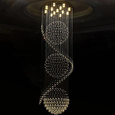 Cristal Candelabre Lumină Spot Galvanizat Metal Cristal, Bec Inclus, designeri 110-120V / 220-240V Alb Cald / Alb Rece Bec Inclus / GU10