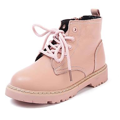d7525ad2d4b2bf Fille Chaussures Cuir Hiver boîtes de Combat Bottes Fermeture / Lacet pour  Enfants / Bébé Beige