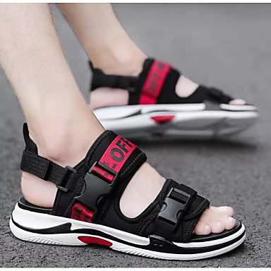 Muškarci Udobne cipele Traper Ljeto Sandale Crn / Crno / crvena / Crna / žuta