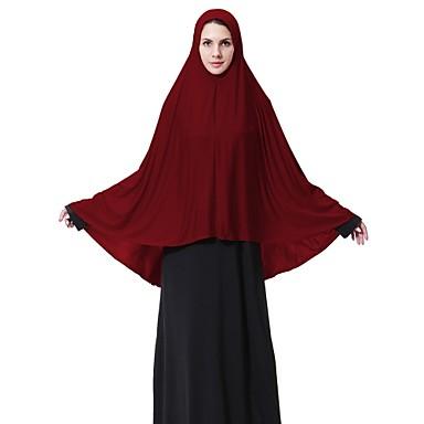 Per Donna Incrociato, Essenziale Hijab Tinta Unita #07057306 Colori Fantasiosi
