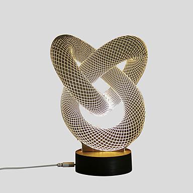 1 set 3D Nightlight USB Decorative