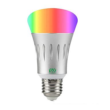 abordables Ampoules électriques-YWXLIGHT® 1pc 7 W Ampoules LED Intelligentes 600 lm A60(A19) 22 Perles LED SMD 2835 RVB Blanc 85-265 V / 1 pièce