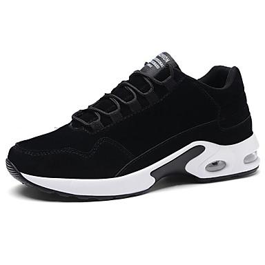 Muškarci Udobne cipele PU Proljeće & Jesen Stil preppy Sneakers Trčanje Prozračnost Tamno siva / Crno-bijeli / Žutomrk