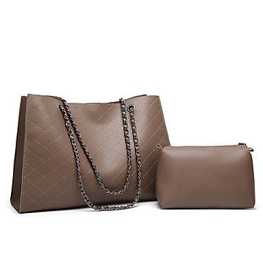 325ee295e7 Γυναικεία Τσάντες PU Σετ τσάντα 2 σετ Σετ τσαντών Φερμουάρ Καφέ   Ασημί    Χακί