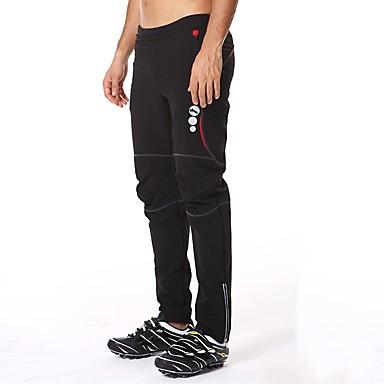 Mountainpeak Men's Cycling Pants Bike Pants / Trousers Pants Bottoms Thermal / Warm Breathable Sports Polyester Elastane Fleece Black / White / Black / Red Clothing Apparel Relaxed Fit Bike Wear