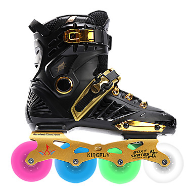 cheap Scooters, Skateboarding & Rollers-Men's / Women's Inline Skates Adults Wearable, LED Lights Flashing CNC Thicken Alloy - Gold, White, Black