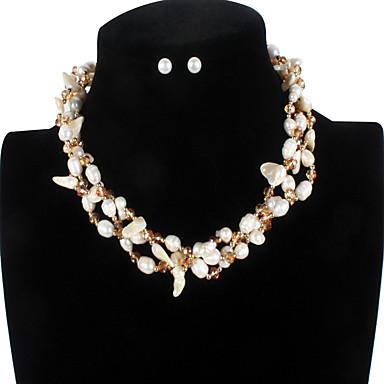 Accurato Perla D'acqua Dolce Colorata Set Di Gioielli - Perla Gioia Di Moda, Speciale, Di Tendenza Bianco Per Da Mare Compleanno Per Donna #07073652