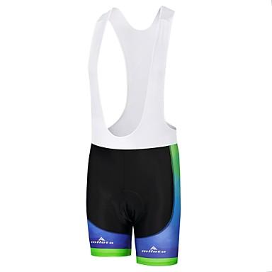 Miloto Muškarci Biciklističke kratke tregerice Bicikl Bib Shorts Podstavljene kratke hlače Hlače Sportski Poliester Obala / Crn / Bule / crna Odjeća Odjeća za vožnju biciklom / Rastezljivo