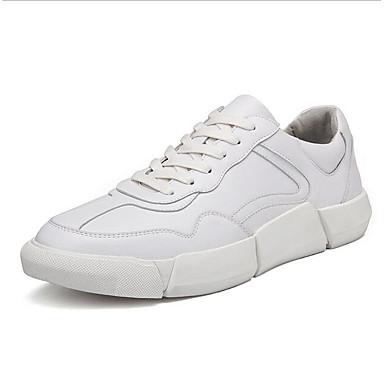 2019 Moda Per Uomo Scarpe Comfort Microfibra Primavera & Autunno Sneakers Bianco - Nero #07079382 Saldi Estivi Speciali